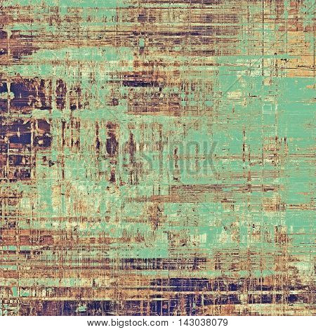 Scratched grunge background or spotted vintage texture. With different color patterns: yellow (beige); brown; green; purple (violet); gray; cyan