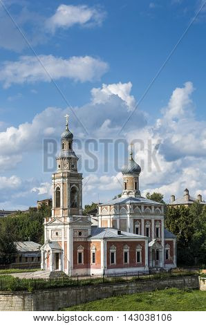 Church ortodox against the beautiful sky. Stock photo