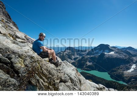 A scramble in the coastal mountains of bc
