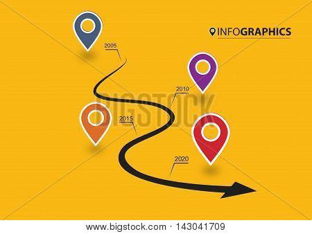 Time Line İnfo Graphic Modern Design. Timeline infographic modern design. Vector with icons