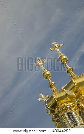 PUSHKIN, RUSSIA Znamenskaya Church in Pushkin Leningrad region