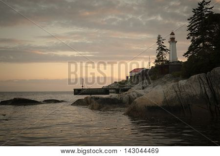 The lighthouse in lighthouse park, vancouver, BC