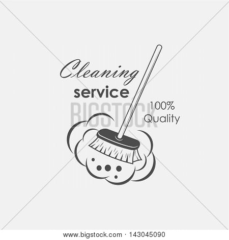 cleaning service logo emblems labels and design elements
