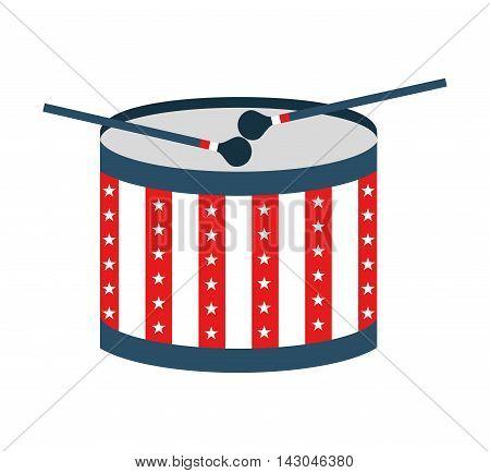 drum usa instrument isolated vector illustration design
