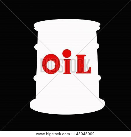 Barrel of oil on black background .