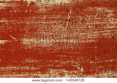 a grunge metal texture with cracked red paint