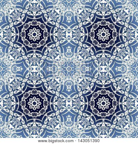 Lace blue seamless pattern colors elegant print white background