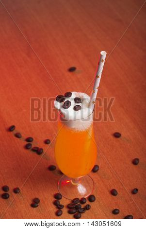 Pumpkin cocktail straws with stars drinks for a party on Halloween