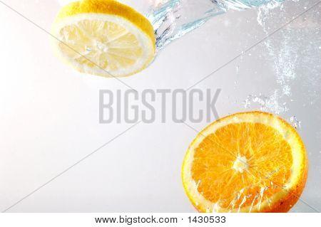 Orange Slices In Water