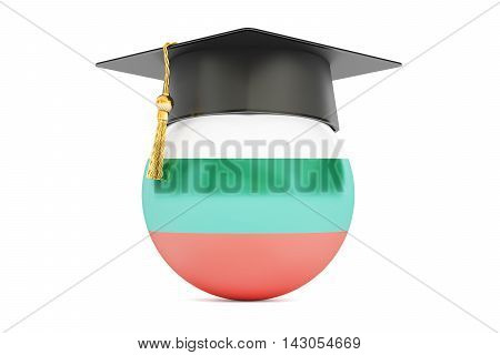 education and study in Bulgaria concept 3D rendering isolated on white background