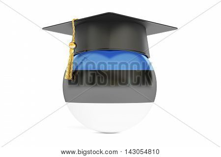 education in Estonia concept 3D rendering on white