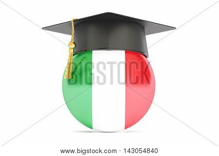 education in Italy concept 3D rendering on white