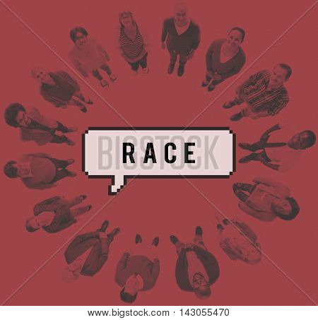Race Cultural Ethnic People Humanity Ancestral Concept