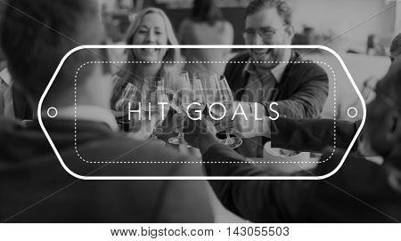 Hit Goals Success Target Achievement Accomplishment Concept
