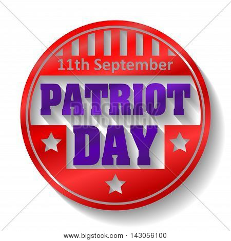 11Th September Patriot Day Colorful Round Emblem  With Shadow
