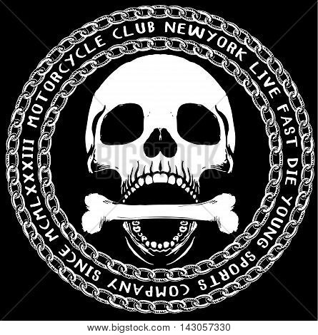 Skull T shirt Graphic Design Anderson Talisca