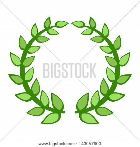 Wreath branch award design element. Vector gold branch award and laurel branch. Winner ornate leaf branch award certified sport champion. Success victory circle.