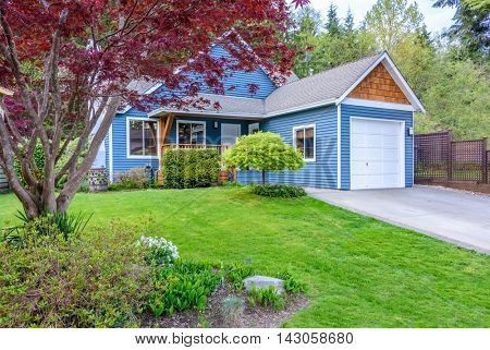 Fragment of a house with beautiful landscape in Vancouver, Canada.