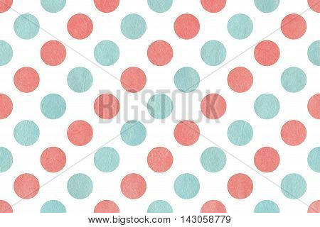 Watercolor Polka Dot Background.