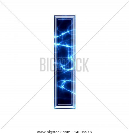 elektrische 3d Buchstaben - l