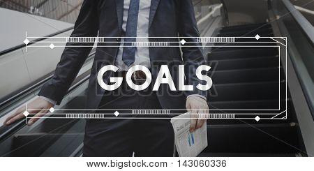 Goals Aim Aspiration Believe Expectations Target Concept