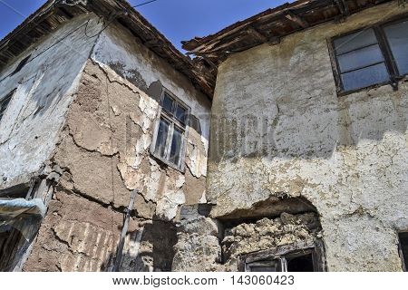 Old abandoned rural house in Southeast Serbia.