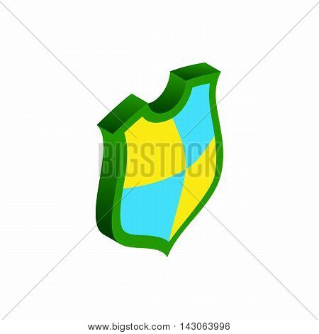 Protection shield concept icon in isometric 3d style isolated on white background