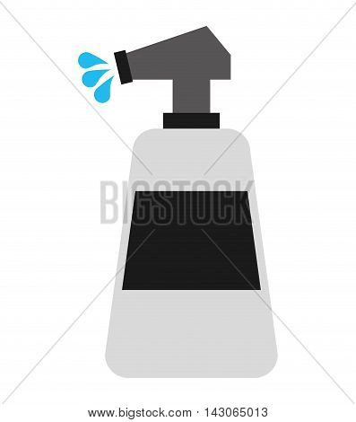 water spray bottle isolated icon vector illustration design