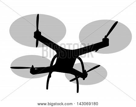 Drone on a white background. Vector illustration.