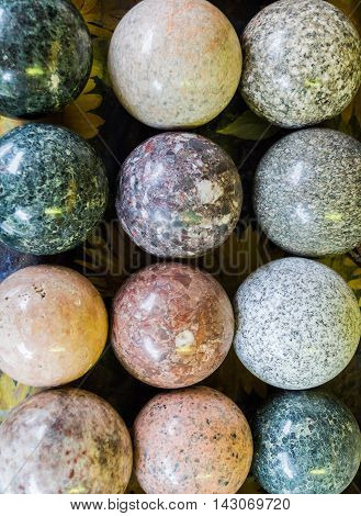 Stone Balls With Different Colors Texture