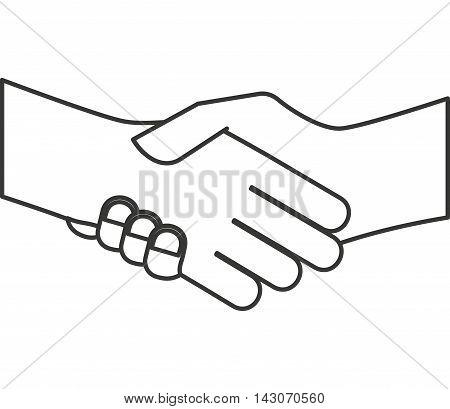 hand shake isolated icon vector illustration design