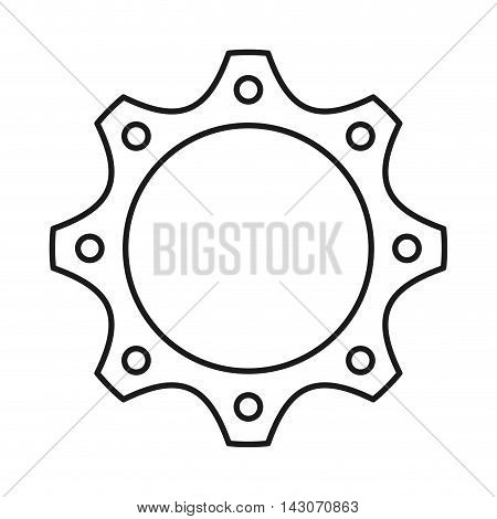 gear engineering design isolated, vector illustration eps10