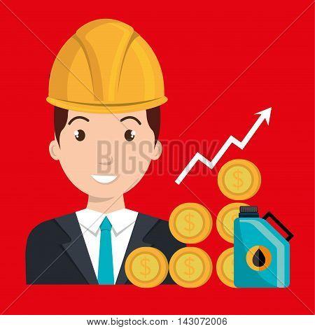 man gasoline station vector illustration graphic eps 10
