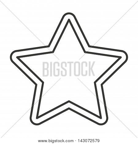 star favorite symbol isolated icon vector illustration design