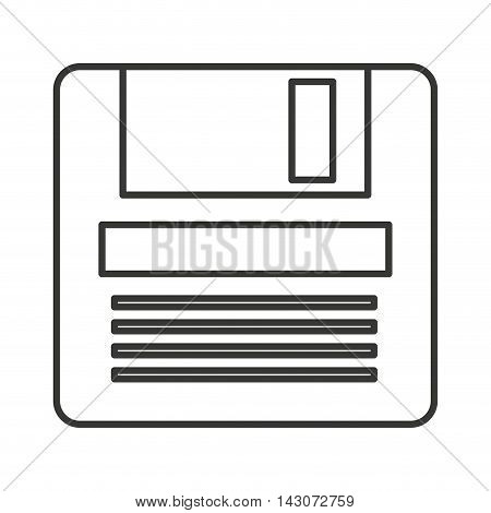 floppy data storage isolated icon vector isolated graphic