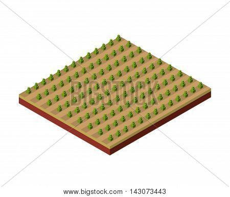 terrain isometric isolated icon vector illustration design