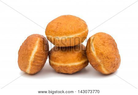 small dessert donuts isolated on white background