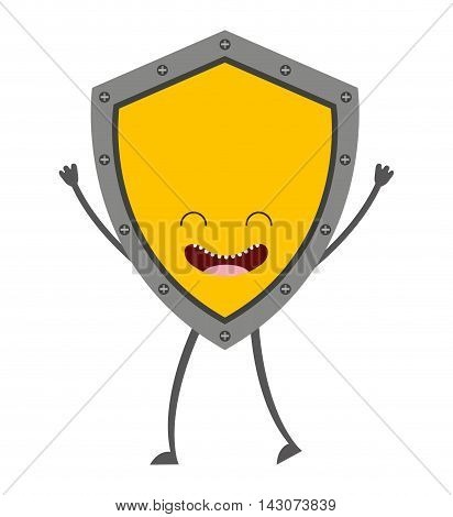 shield guard isolated icon vector illustration design