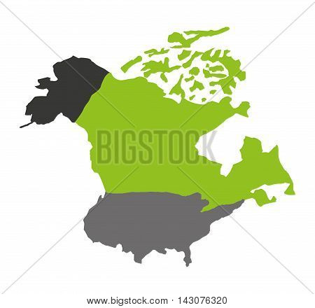north american map isolated icon vector illustration design