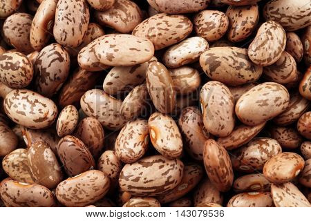 An extreme macro image of pinto beans