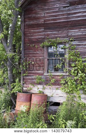 An old decreped building in Balaclave Ontario ghost town