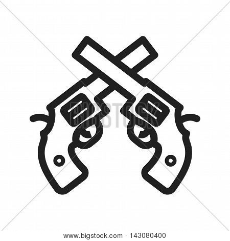 Cowboy, guns, revolver icon vector image. Can also be used for wild west. Suitable for web apps, mobile apps and print media.
