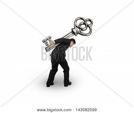 Man Carrying The Treasure Key
