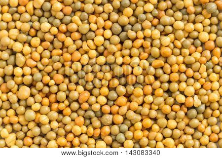 group of yellow fertilizer pellets for plant