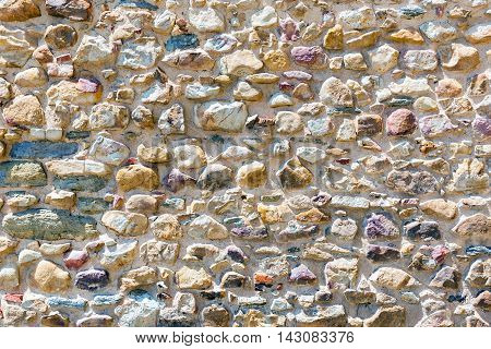 Background from an old natural stone wall