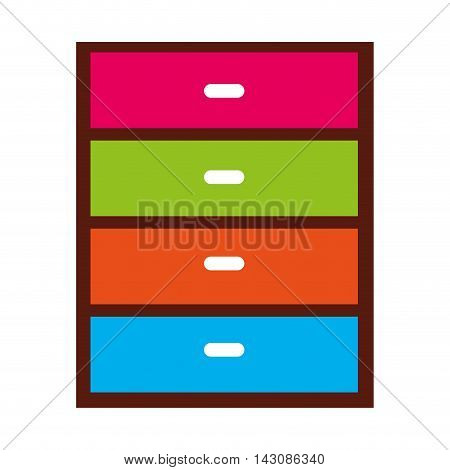 chest of drawers isolated icon, vector illustration eps10