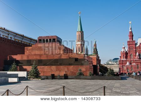 Mausoleum On The Red Square In Moscow, Russia