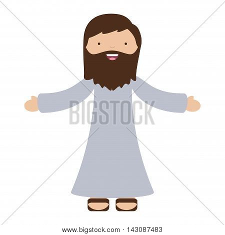 jesus christ character isolated icon vector illustration design