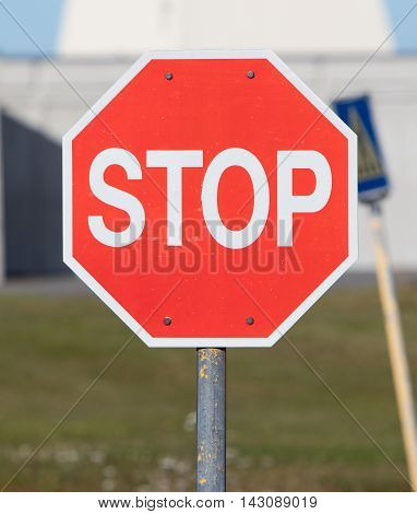 Old Stop Sign On An Abandoned Usaf Air Base