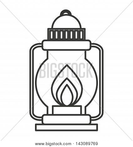camping lamp isolated icon vector illustration design